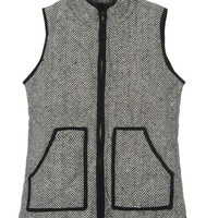 Turtleneck Zip-Up Puffer Vest