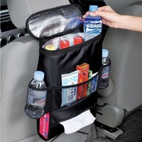 Multifunction Automotive Chair Organizer Mum Bag Oxford Waterproof Baby Bottle Thermal Bag Cooler Bag with Tissue Boxes
