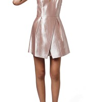 Topshop Crinkled Satin V-Neck Dress | Nordstrom