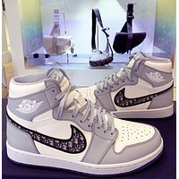 Dior x Air Jordan 1 High sneakers basketball shoes