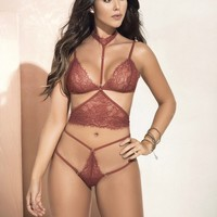 Sexy Lace bralette Lingerie Set With Choker.