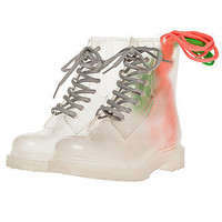 Jeffrey Campbell Boot Stompin in Clear