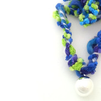 pregnant woman gift, pregnancy harmony ball, mother and child jewelry, necklace woven by hand, green, light green, light blue, purple