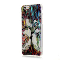 TPU drawing tree Phone Case Cover for Apple iPhone 7 7 Plus 5S 5 SE 6 6S 6 Plus 6S Plus + Nice gift box! LJ161007-005
