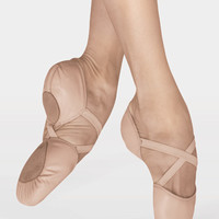 "Free Shipping - ""Elastosplit X"" Adult Split-Sole Leather Ballet Slipper by BLOCH"