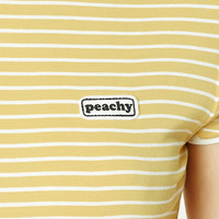 Peachy Patch Stripe Ringer Tee