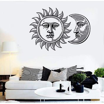 Wall Stickers Vinyl Decal Sun And Moon Tribal Gothic Cool Decor Unique Gift (z2310)
