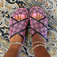 GG The latest thick soled slippers Shoes Purple