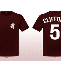 Michael Clifford Last Name Shirt (5 Seconds Of Summer) MAROON
