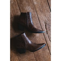 Astoria Snake Print Bootie, Brown Snake | Coconuts by Matisse
