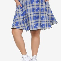 Harry Potter Ravenclaw Plaid Skirt Plus Size