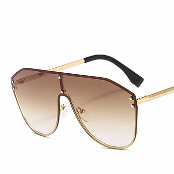 Fendi new tide brand female double F letter watermark one-piece sunglasses #8