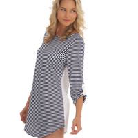 Stripe Swimsuit Cover Up Tunic | Lightweight Coverup | 2014