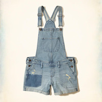 Girls Denim Short Overalls | Girls New Arrivals | HollisterCo.com