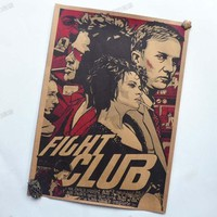 Posters for walls Fight club Movie Vintage Paper Posters Retro art Wall Decoration vintage poster wall sticker 30X42 CM