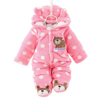 Unisex Cute Bear Baby Rompers Winter Thicken Baby Clothing 3 Colors for New Born Baby Romper CL0430