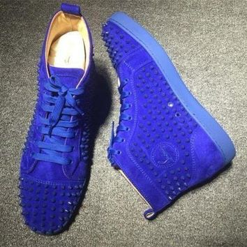 DCCK2 Cl Christian Louboutin Louis Spikes Style #1864 Sneakers Fashion Shoes