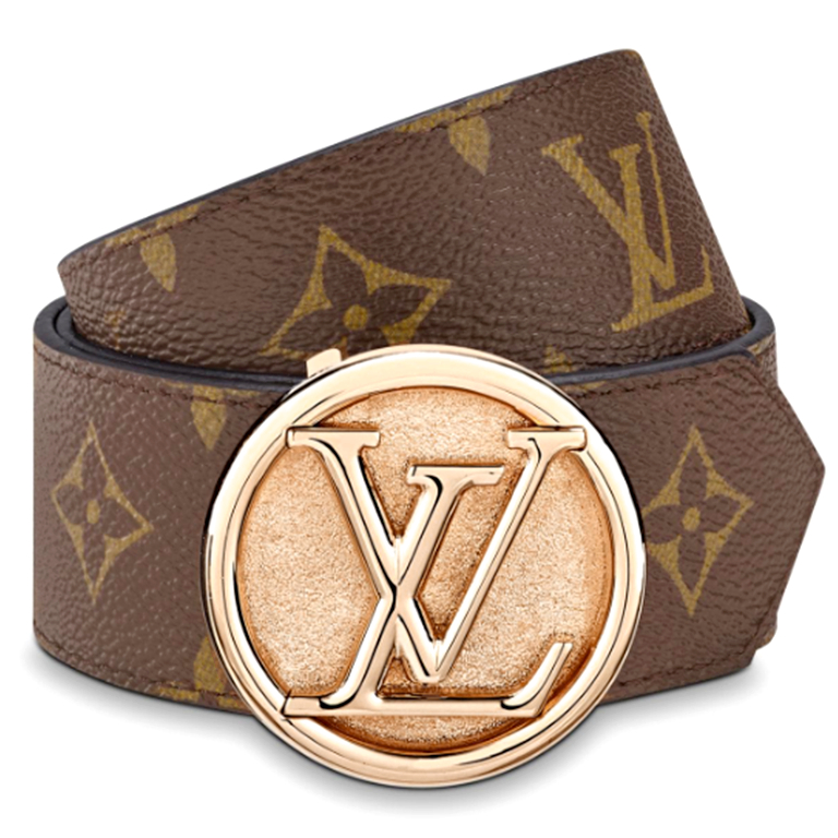 Image of Inseva Louis Vuitton LV Classic Presbyopic Wild Smooth Buckle Belt