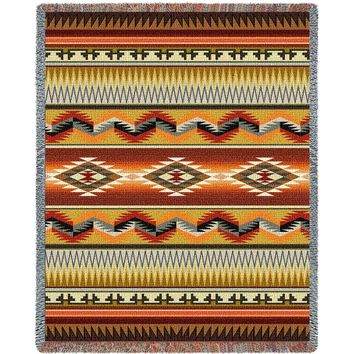 SANDOVAL EARTH TAPESTRY AFGHAN THROW BLANKET