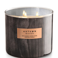 Autumn Woods 3-Wick Candle | Bath And Body Works