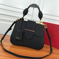 prada women leather shoulder bags satchel tote bag handbag shopping leather tote crossbody 324