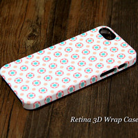 Circle Flowers 3D-Wrap iPhone 5S Case iPhone 5 Case iPhone 5C Case iPhone 4S Case iPhone 4 Case