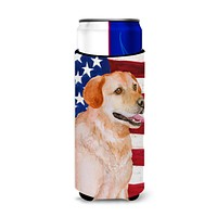 Labrador Retriever Patriotic Michelob Ultra Hugger for slim cans BB9714MUK