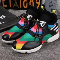 ADIDAS Y-3 Rainbow Women's Fashion Casual Sneakers F-OMDP-GD black