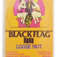 Vintage 80s Black Flag Loose Nut Hardcore Punk Album Cassette Tape