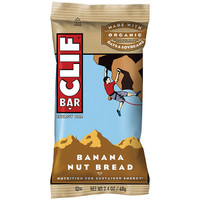 Clif Bar Banana Nut Bread 2.4 oz Bars - Pack of 12