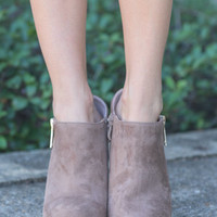 In The Works Booties, Tan