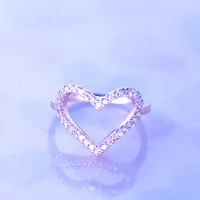Open  Big Heart Ring / Symbol of Love/Good for Mother's Day Gifts