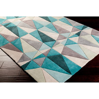 Hand-tufted Diamonds Blue Contemporary Geometric Rug (5' x 8') | Overstock.com Shopping - The Best Deals on 5x8 - 6x9 Rugs