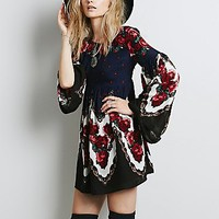 Free People Womens Free Falling Tapestry Print Dress
