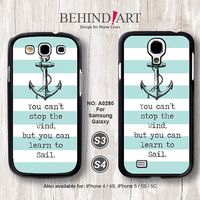 Samsung Galaxy S4 case, Samsung Galaxy S3 case, Phone Cases, Phone Covers, Skins, Case for Samsung, Strip Anchor-A0280