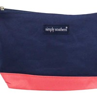 Simply Southern Collection Cosmetic Bag in Navy MU738-NAVY-CORAL