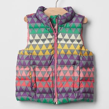 Gap Warmest Geometric Fair Isle Puffer Vest