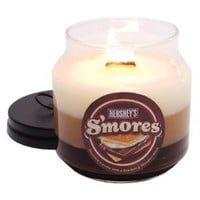 Carousel Candles Hershey's S'mores Soy Candle with Wooden Wick, 12-Ounce