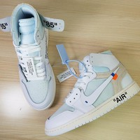 Off White X Nike Air Jordan 1 White Men Basketball Shoes Aq0818 100