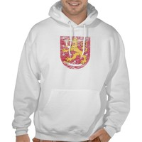 Coat of Arms of Finland Hooded Sweatshirts