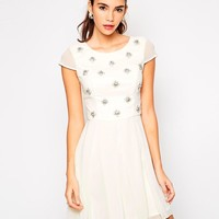 Chi Chi London | Chi Chi London Tori Embellished Skater Dress at ASOS