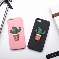 MRGO Fitted Case For iPhone 5s Case 3D Silicona 5 SE Resin Plant For iPhone SE Cover For iPhone 5 Case Silicone Pink Black