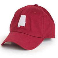 AL Tuscaloosa Gameday Hat in Crimson by State Traditions
