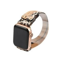 Furry Leopard Twisted Apple Watch Band