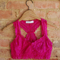 Lace Bralette -Hot Pink
