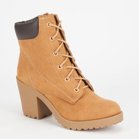 Soda Keelo Womens Hiking Boots Chestnut  In Sizes