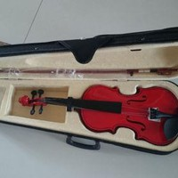 Student Acoustic Violin Full 3/4 Maple Spruce with Case Bow Rosin Red Color