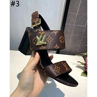 LV 2019 new classic old flower female models with thick single shoes #3