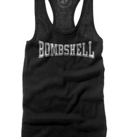 "Women's ""Bombshell"" Tank by Badcock Apparel (Black)"