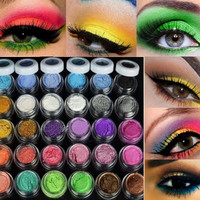 Hot Selling 30 Colors Eye Shadow Powder  pigment Colorful Makeup Mineral Eyeshadow + brush Pigment beauty & health  cosmetic